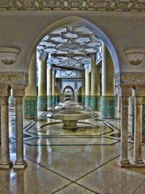 Ablution Room - Hassan II Mosque, Casablanca, Morocco