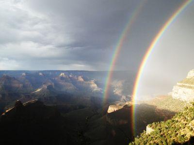 Grand Canyon Double Rainbow