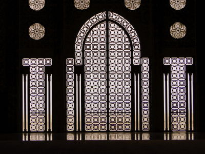 Windows at the Hassan II Mosque - Casablanca, Morocco
